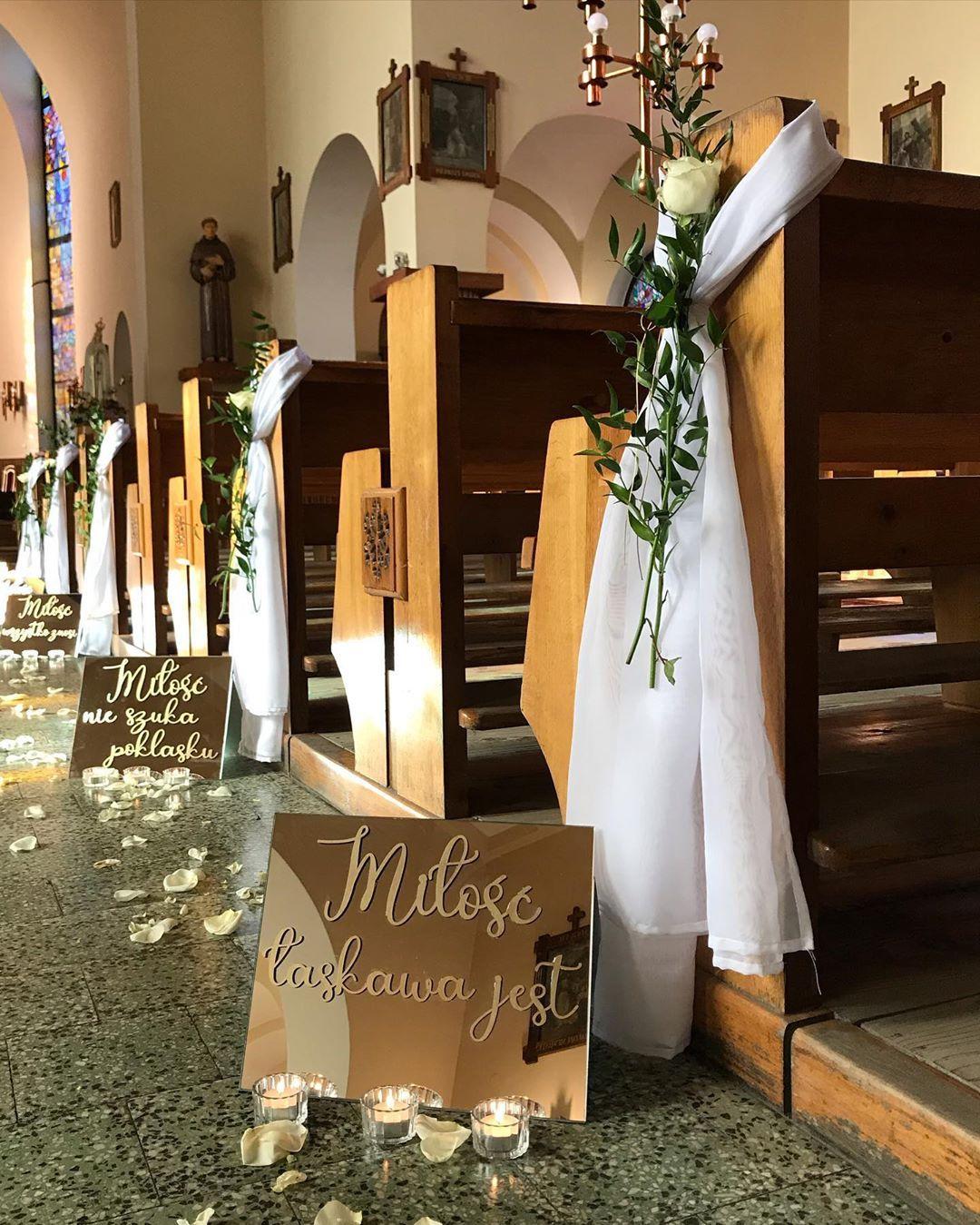 Dekoracja Kosciola Na Slub Dekoracjekosciola Dekoracjekosciolanaslub Dekoracje Slub Kosciol Wedding Decorations Wedding Time Wedding Day
