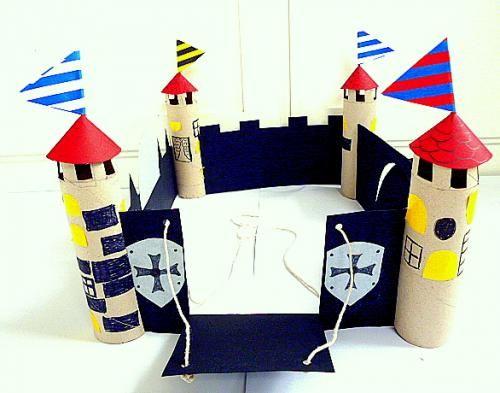 ritterburg ritter u pferde aus papierrollen papier basteln meine enk fr hjahr basteln. Black Bedroom Furniture Sets. Home Design Ideas