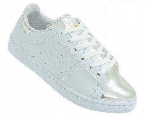 tênis adidas superstar metalizado branco prata frete grátis