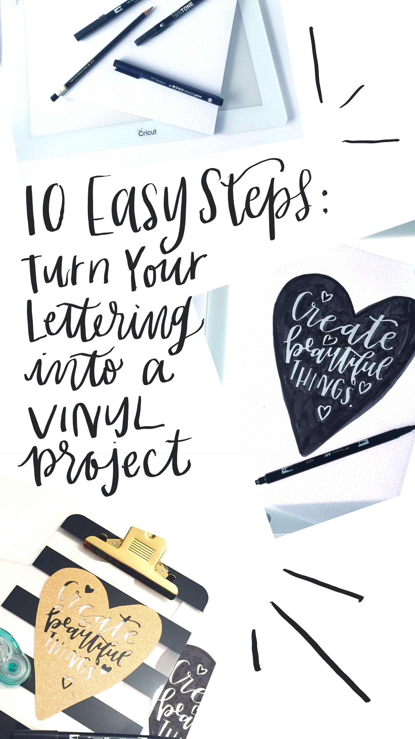 10 Easy Steps Turn Your Lettering Into A Vinyl Project Vinyl Projects Lettering Projects