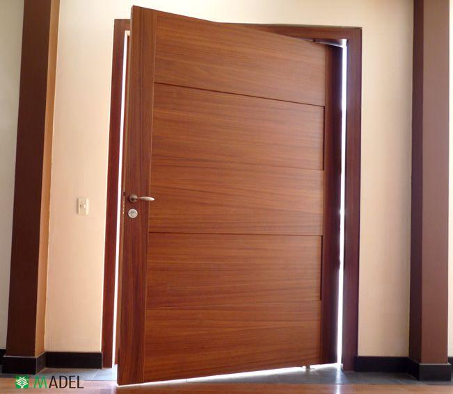 Puerta principal puertas pinterest puertas for Puertas de madera entrada principal modernas