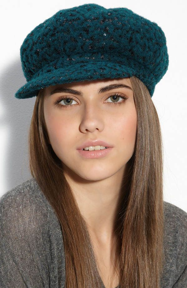 8cae580e62a Image detail for -Glimmering sequins amplify the impact of a knit cap with a  puffy .