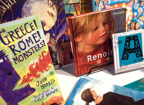 Books for kids as well as adults. At the Gallery Shop. www.lubeznikcenter.org