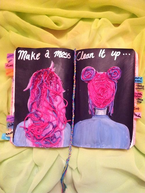 Wreck this journal ideas: make a mess then clean it up