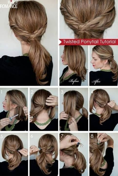 Twisted Ponytail Step By Step Hair Styles Twist Ponytail Long Hair Styles