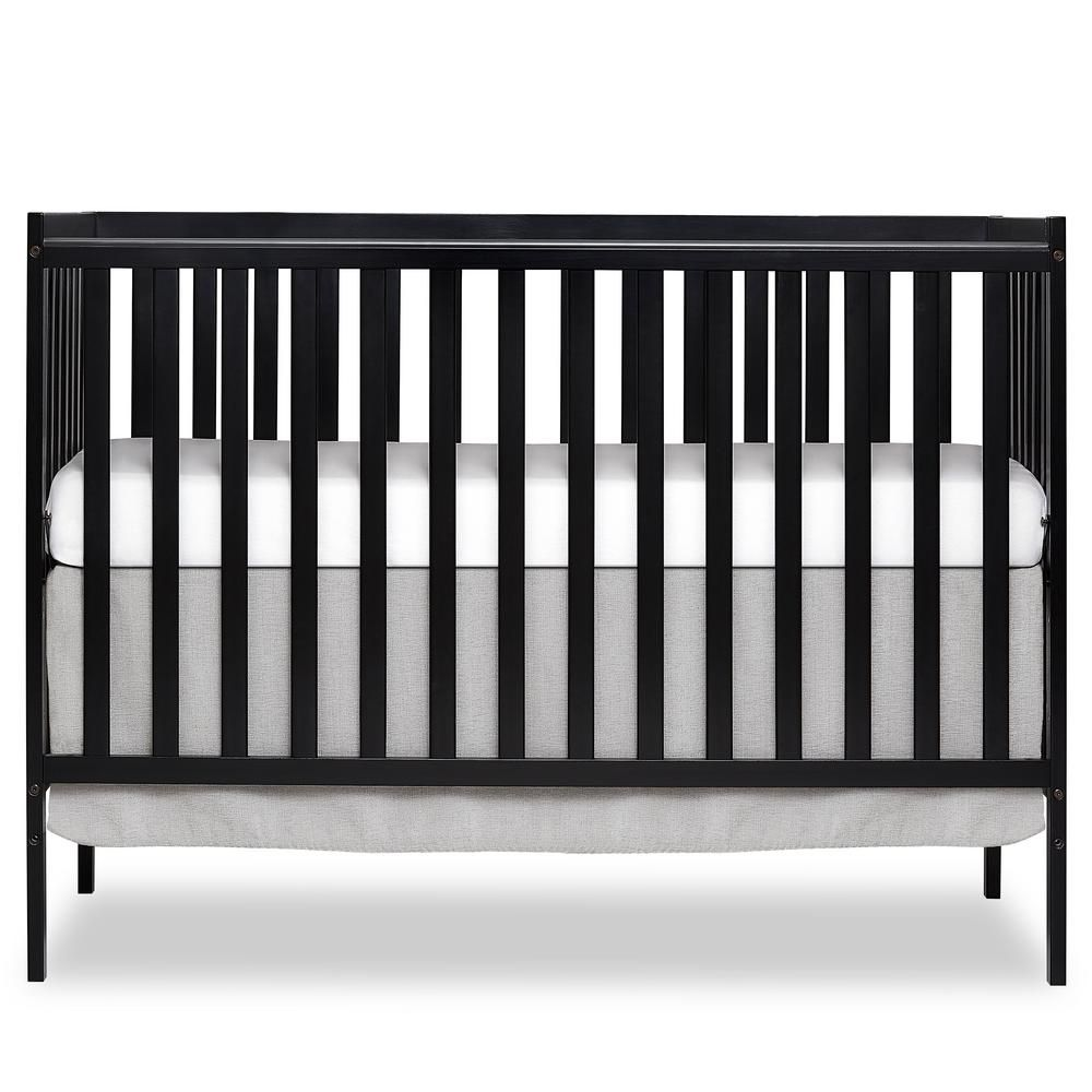 Dream On Me Synergy Black 5 In 1 Convertible Crib 657 K The Home Depot In 2020 Dream On Me Black Crib Nursery Convertible Crib