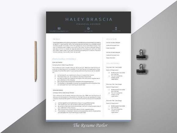 Resume Template  Page  Finance Cv Creativework  Resume