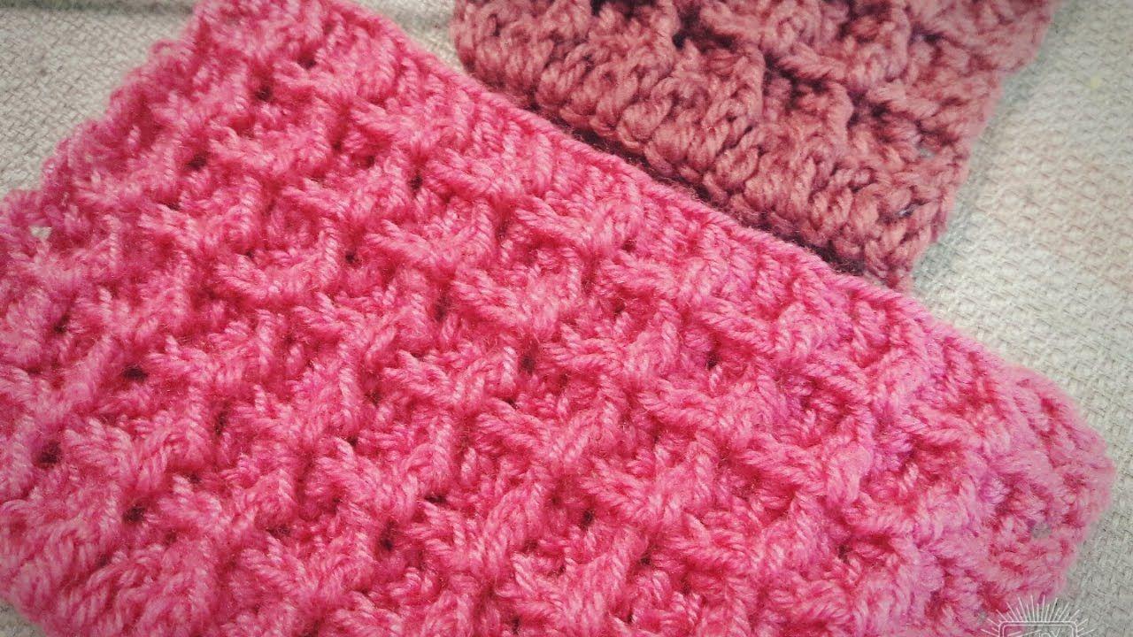 كروشية طريقه عمل غرزه الوافل Crochet Crochet Blanket Stitch