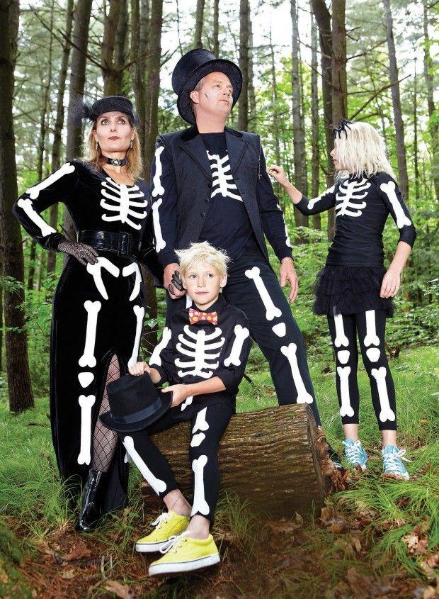 Skeleton Family Halloween Costumes.Skeleton Family Costumes Pin There Pun That Family