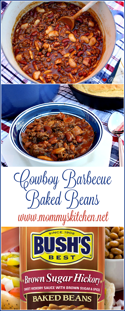 Mommy S Kitchen Recipes From My Texas Kitchen Cowboy Barbecue Baked Beans Using Bush Baked Bean Recipes Bushs Baked Beans Recipe Recipes Using Baked Beans