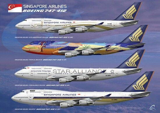 Singapore Airlines B747-400 Aircraft Liveries | AIRLINES OF THE