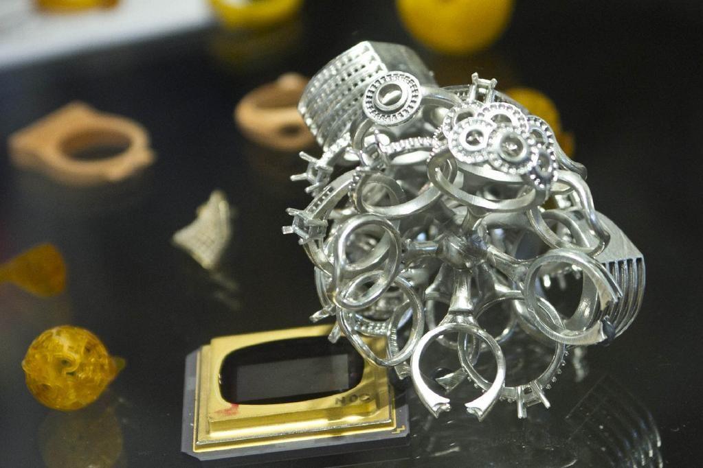 Gioielli realizzati per microfusione partendo dai modelli realizzati da una stampante 3D
