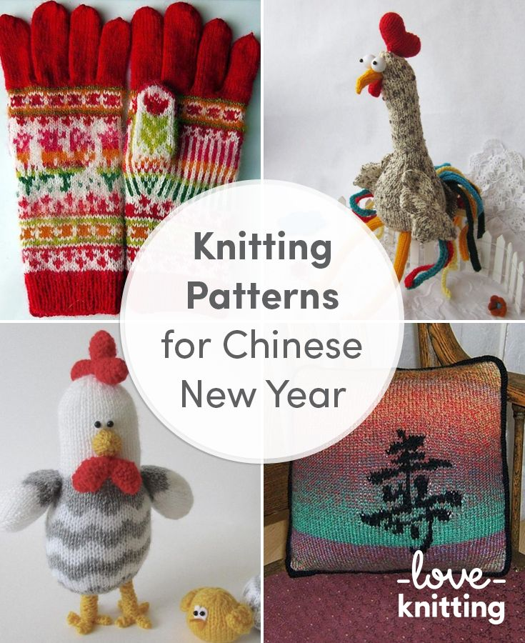 Knitting patterns for Chinese New Year. Celebrate the year of the ...