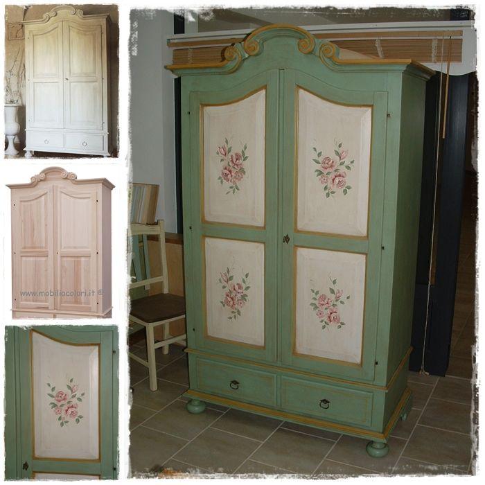 Armadio decorato in stile provenzale | Decorazioni, Mobili ...