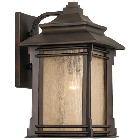 Hickory Point 16 High Bronze Outdoor Wall Light 09569 Lamps