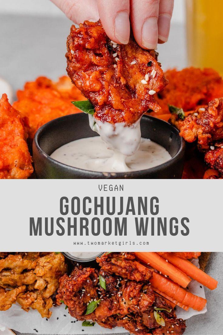 Vegan Mushroom Wings (3 Ways) | Two Market Girls