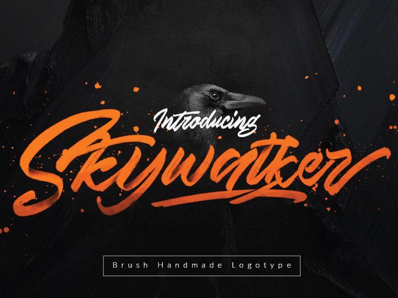 Skywalker Handmade Brush Typeface by Hendra Maulia