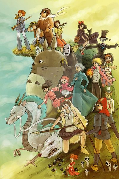 Studio Ghibli Homage by If-Wings-Could-Fly on DeviantArt