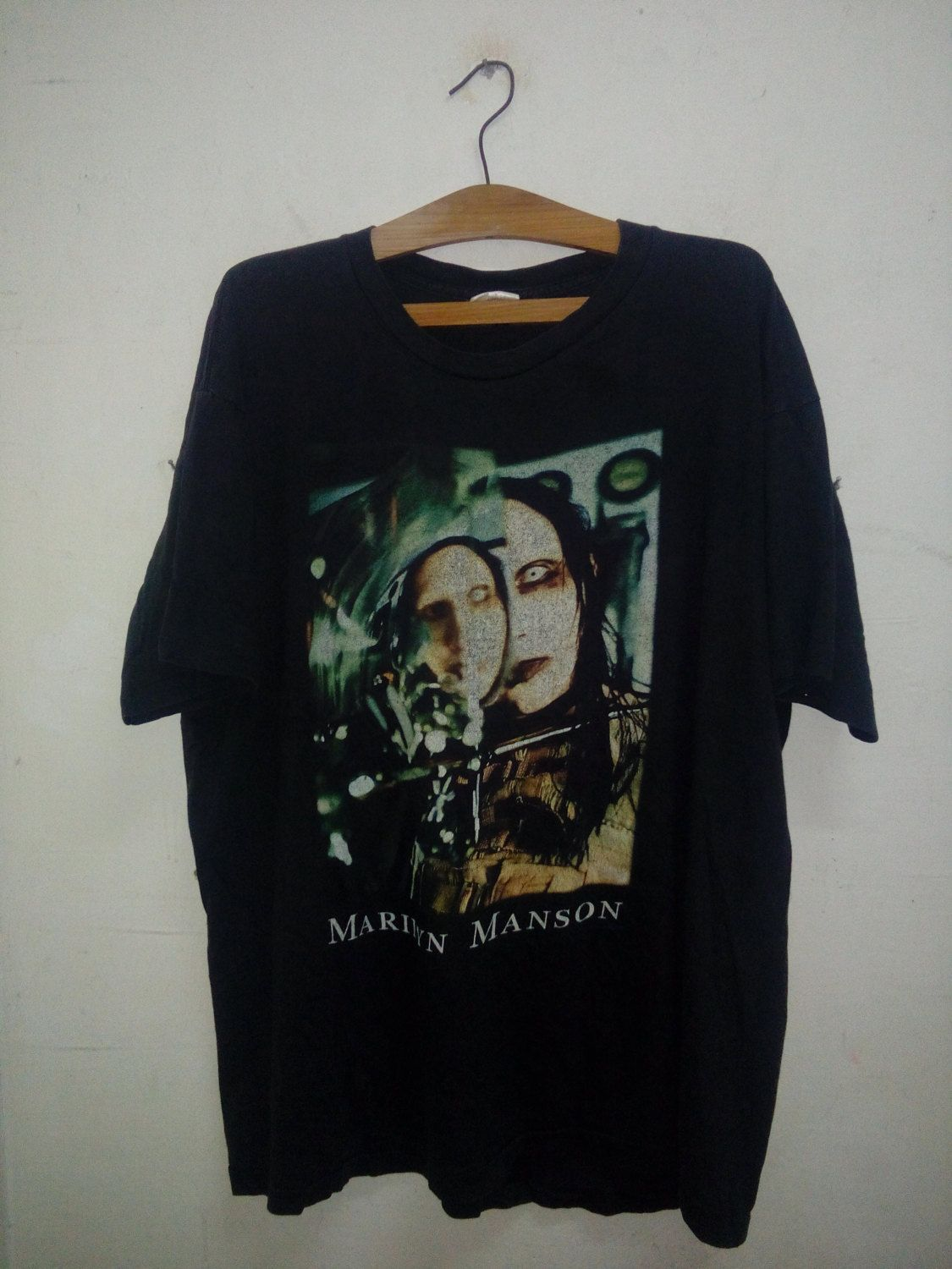 rare vintage marilyn manson the beautiful people vintage marilyn manson the beautiful people original cover art work album hard to t shirt sz xl by psychovault on