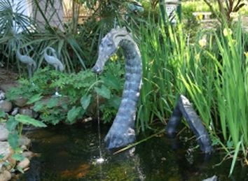 Sea monster in pond