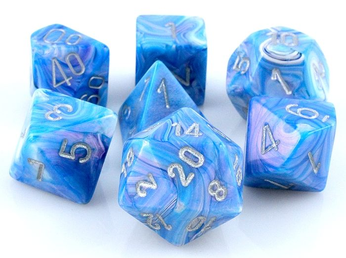 Rpg Dice Set Cirrus Mother Of Pearl Role Playing Game
