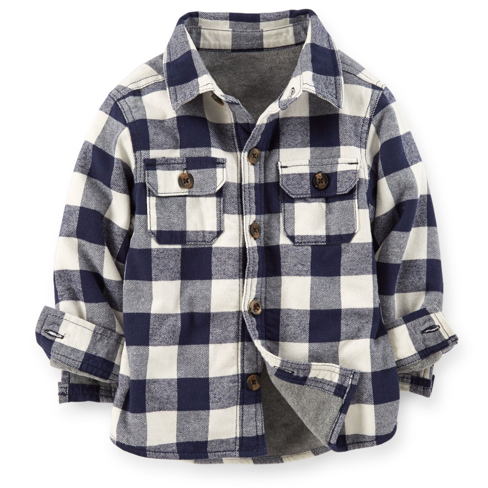 5c5174460 Fleece-Lined Flannel Shirt Jacket