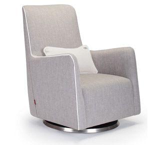 """grazia swivel glider chair - modern nursery furniture by Monte Design 38""""h x 30""""w x 32""""d"""