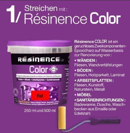 Resinence Color Schwarz Stahl Metallic Und Alu Fliesen Boden Stahl