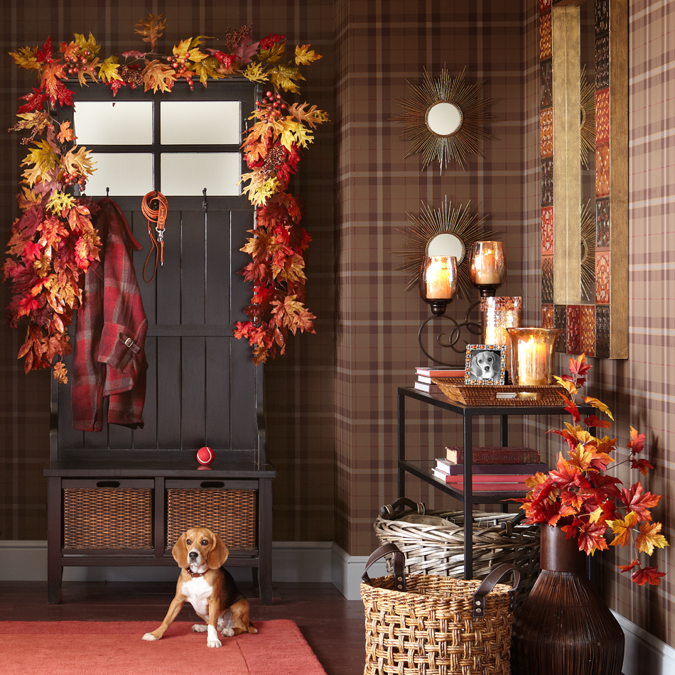 We can't think of a better welcome than fall foliage and a wagging tail