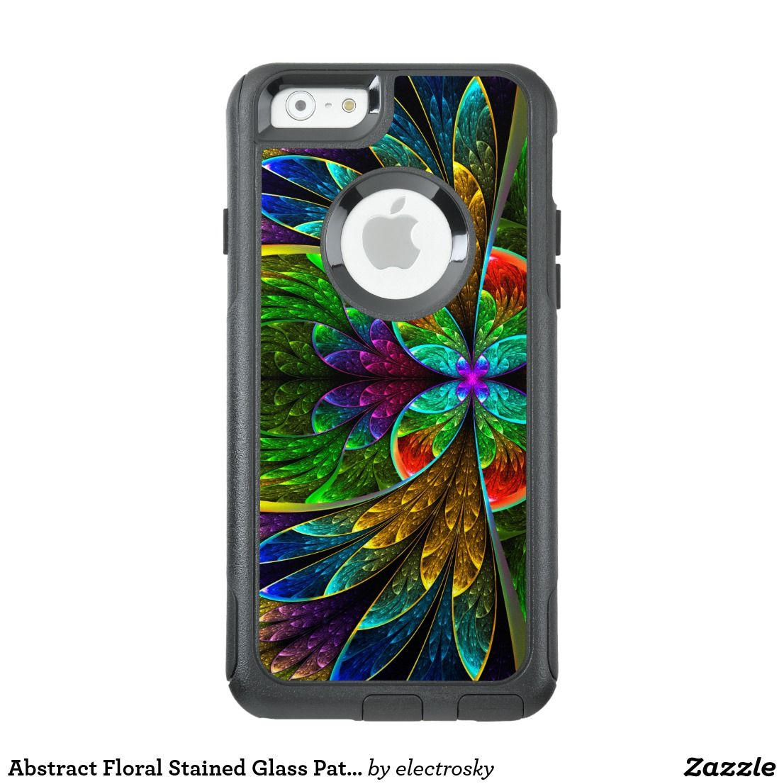 Abstract Floral Stained Glass Pattern OtterBox IPhone Case