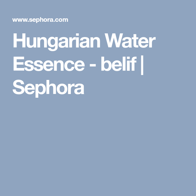 Hungarian Water Essence