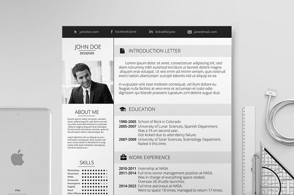 Elegant Resume  Resume Cv Template And Cv Template
