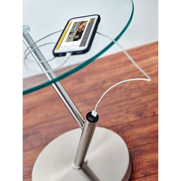 Pulsar Usb End Table Modern Side Table Modern Accent Tables
