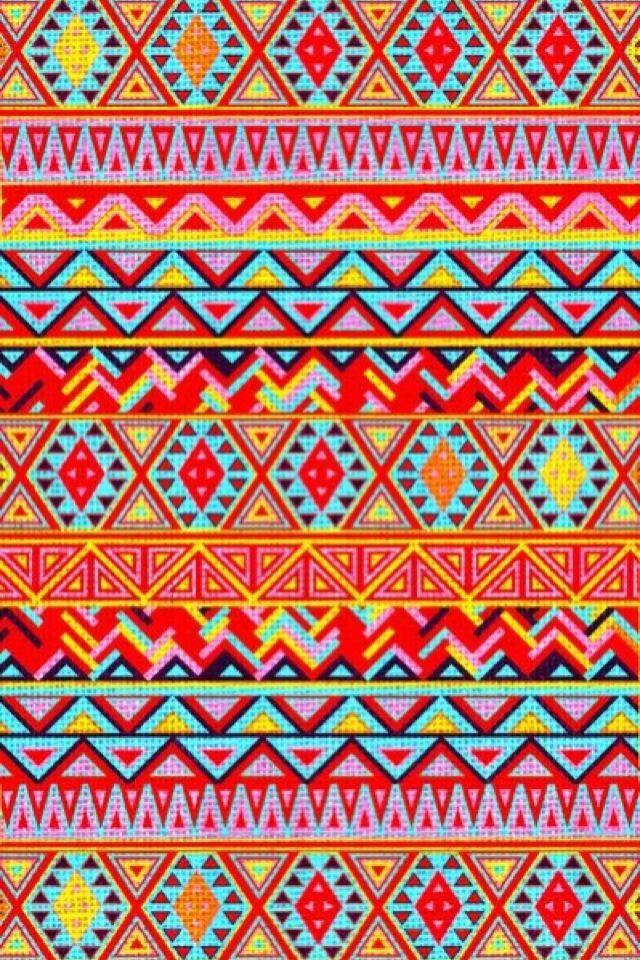 iPhone Wallpaper Aztec/Tribal tjn | Multicolor art ...
