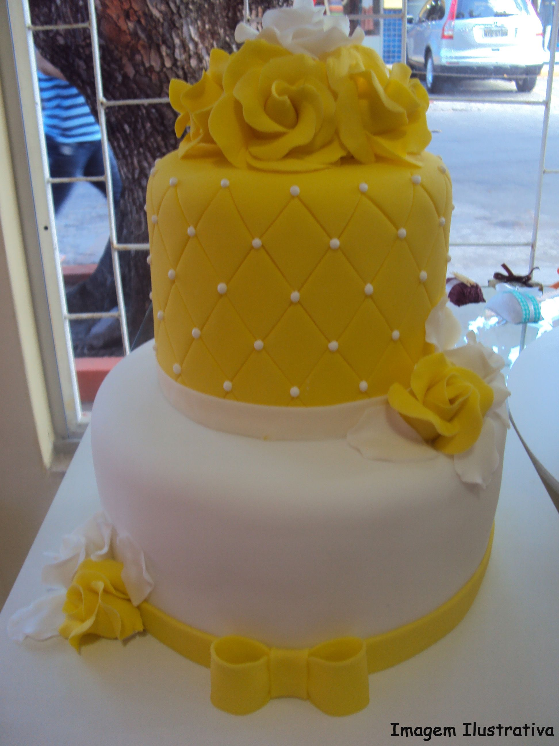 Yellow Cakes Rose Cake Shades Of Occasion