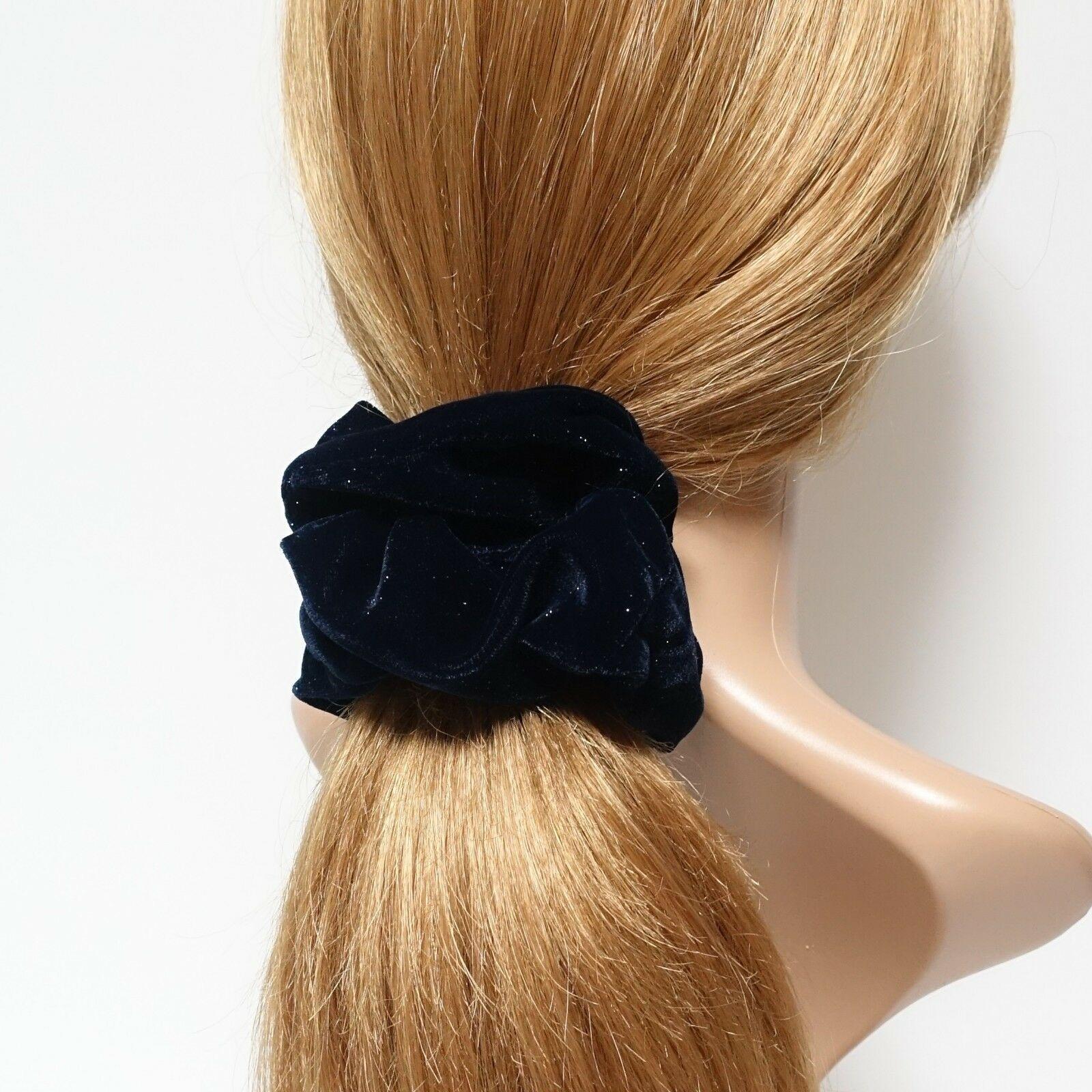 Details about Sparkling dazzle velvet scrunchies velvet hair scrunchie for women #hairscrunchie