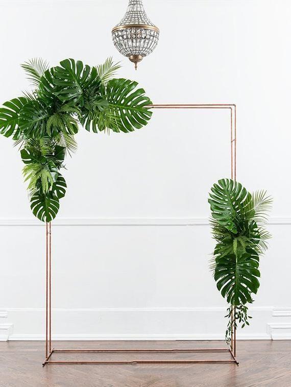 Artificial Monstera leaf Tropical Wedding decor Wedding Arch decor Wedding table decor Greenery decor Wedding decorations #bridalshops