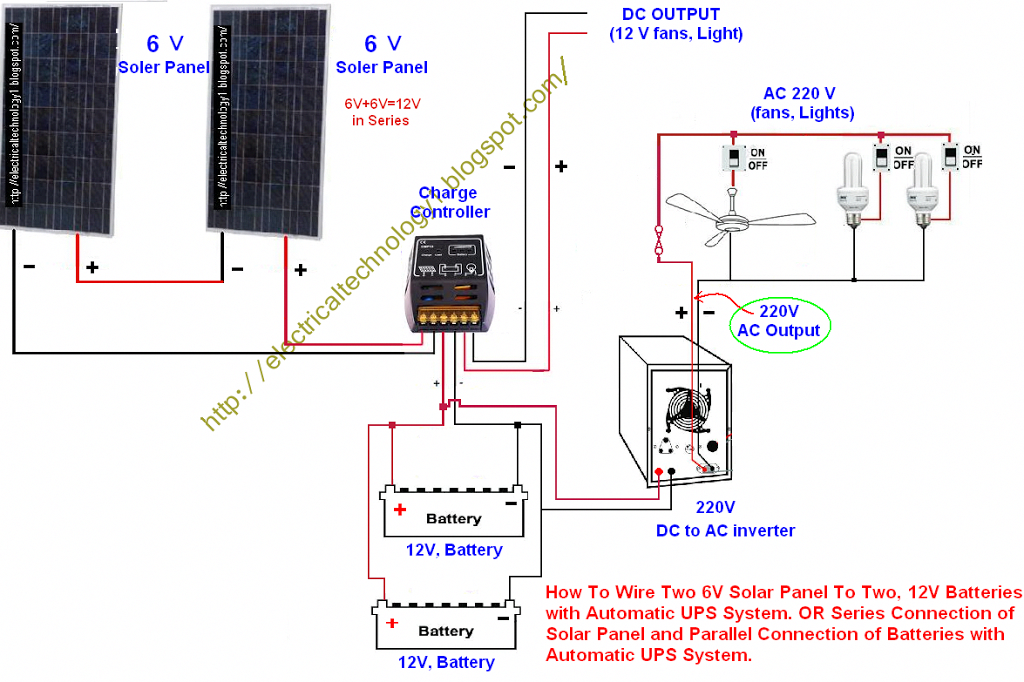 Series Connection Of Solar Panel And Parallel Connection Of Batteries With Automatic Ups System Or How To Wi In 2020 Solar Panels Best Solar Panels Solar Technology