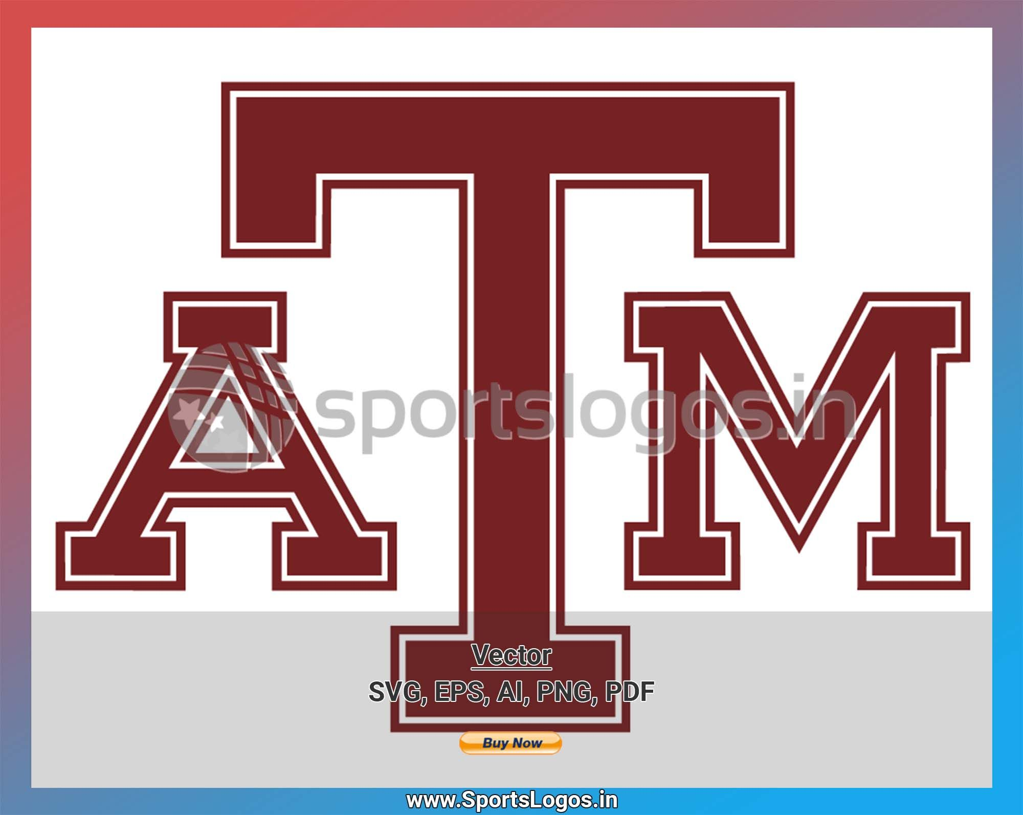 Texas A M Aggies College Sports Vector Svg Logo In 5 Formats Spln004374 Sports Logos Embroidery Vector For Nfl Nba Nhl Mlb Milb And More In 2020 College Sports Embroidery Logo Sports Logo