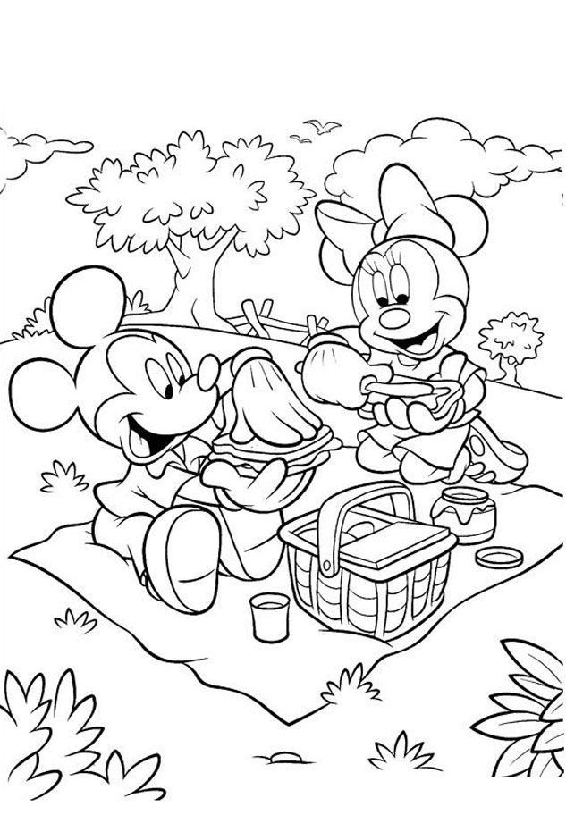 Free Printable Minnie Mouse Coloring Pages For Kids | Happy ...