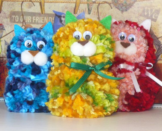 Image result for kids pompom kittens