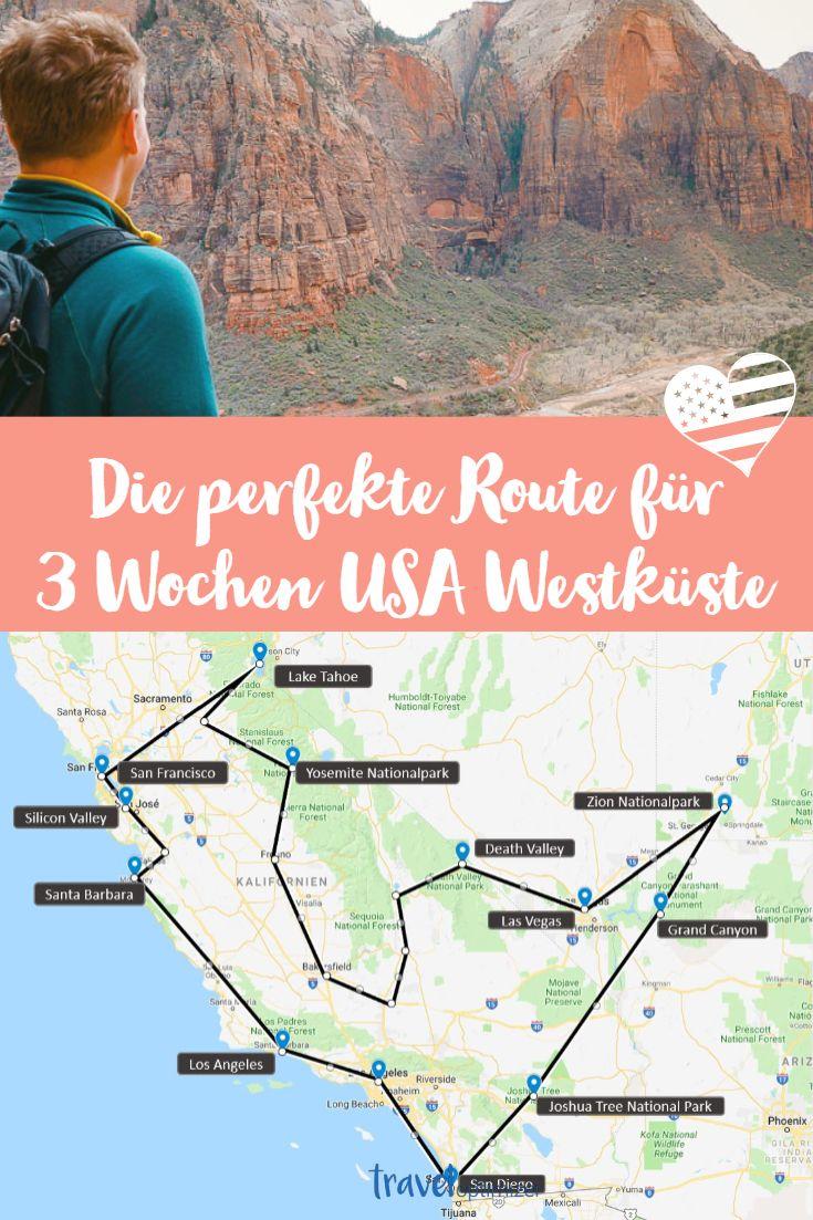 3 Wochen USA Westküste - der perfekte Urlaub der Superlative