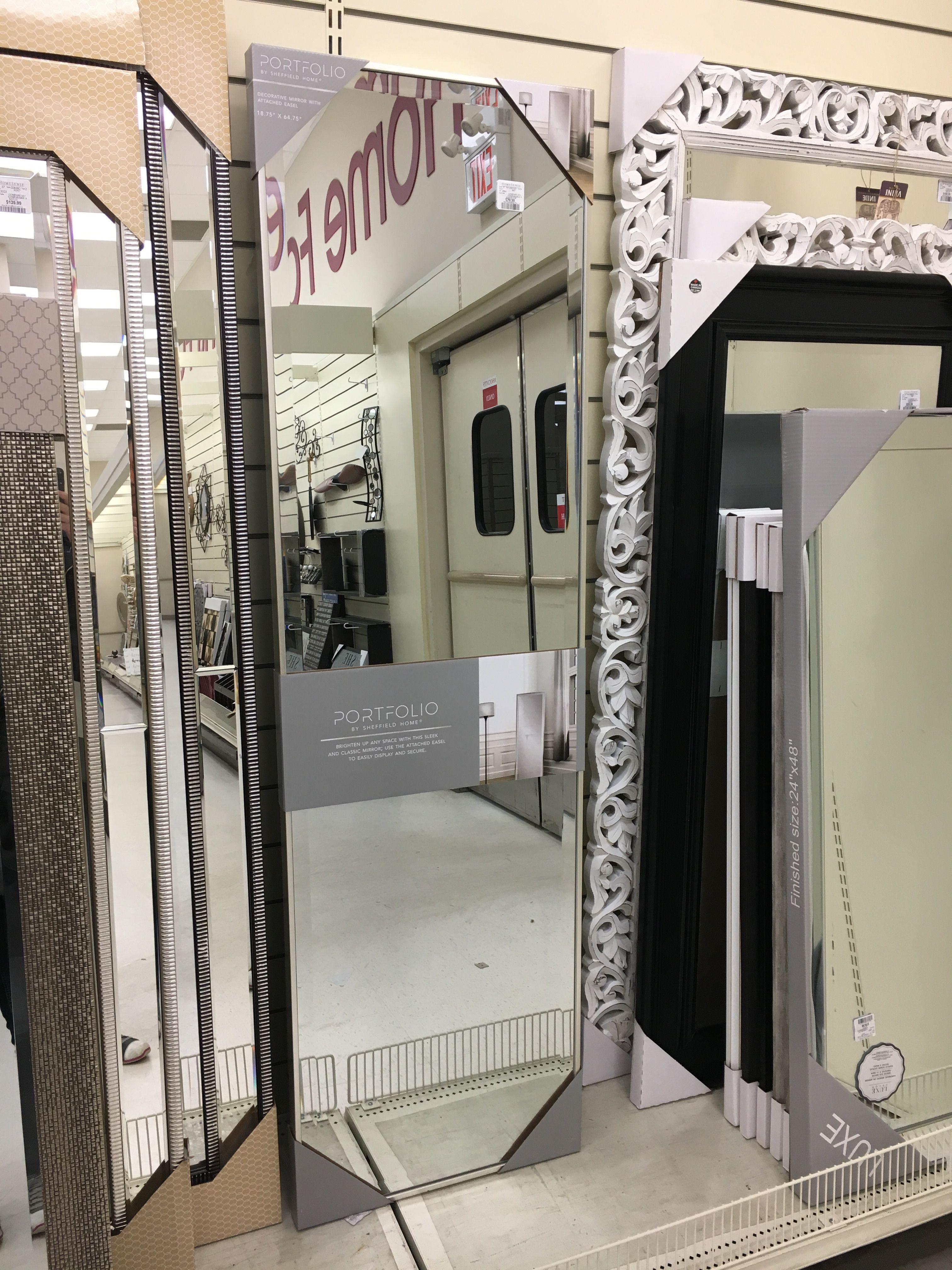 Floor Standing Mirror Light Gold Frame Homesense 79 99 Mirror Floor Standing Mirror Standing Mirror