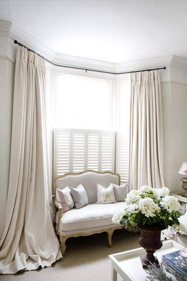 style puddled curtains