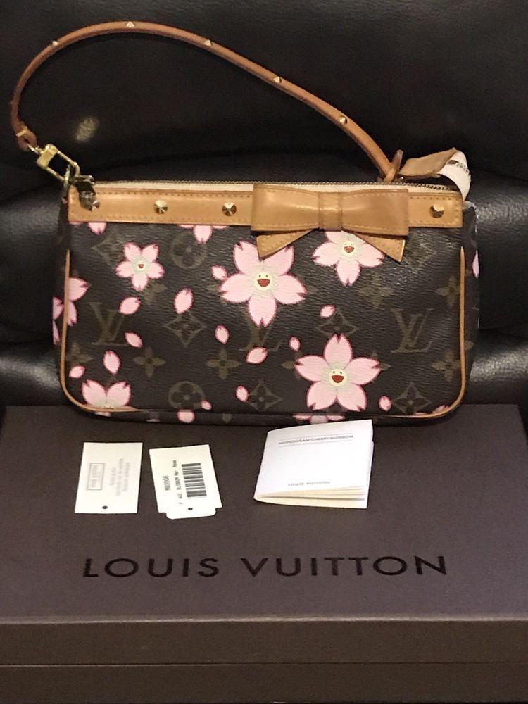 8f20677b07da Louis Vuitton Limited Edition Cherry Blossom Pochette Bag