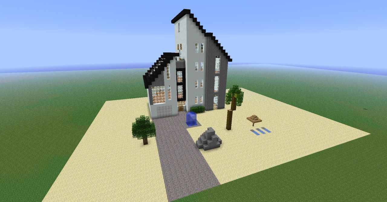 The gallery for minecraft pe beach houses for Modern house minecraft pe 0 12 1