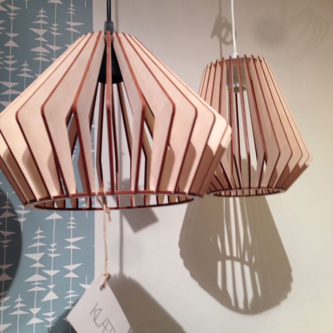 Cool lamp shades in a design store in Ghent! Modern lamp