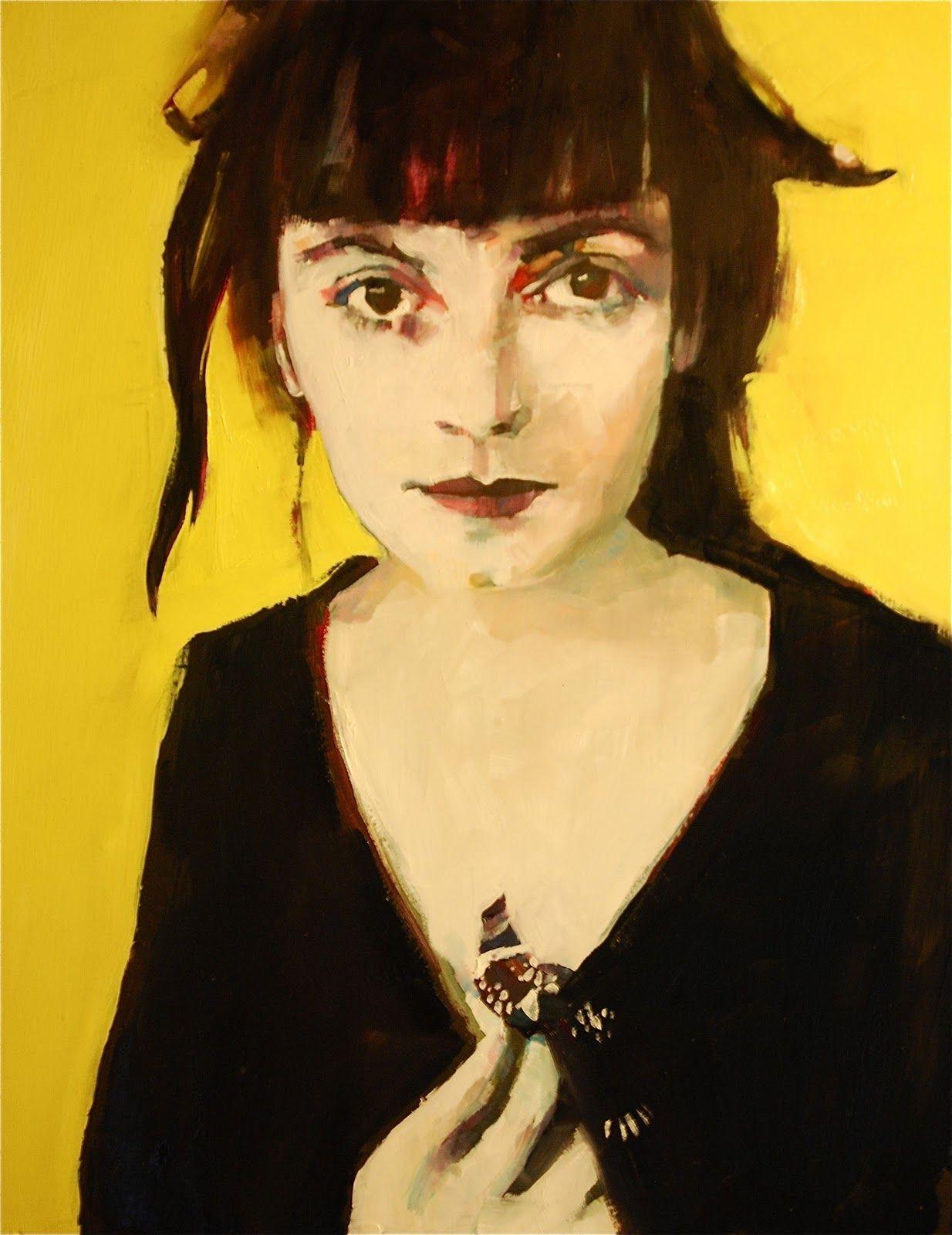 art painting ▲ ruth shively la palette jaune noire