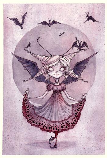 Little Batty Princess By Annie Rodrigue Holidaze Pinterest