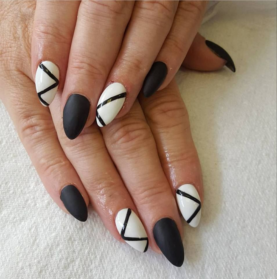 Black Gelish Nail Art Designs From Cover Beauty Httpwww